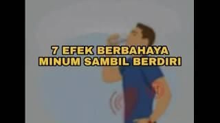 7 efek berbahaya minum sambil berdiri