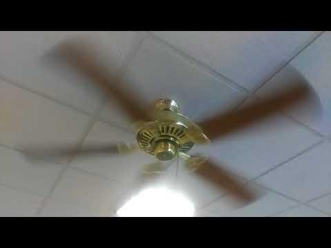 "52"" Polished Brass Harbor Breeze Builder's Best (Classic Style) Ceiling Fan"