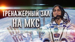 Сунита Уильямс — Тренажерный зал на МКС