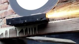 Angle grinder vs hard drive