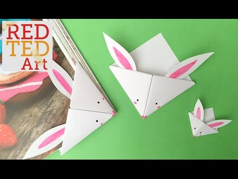 Easy Paper Bunny Bookmark Corner (BONUS VIDEO)