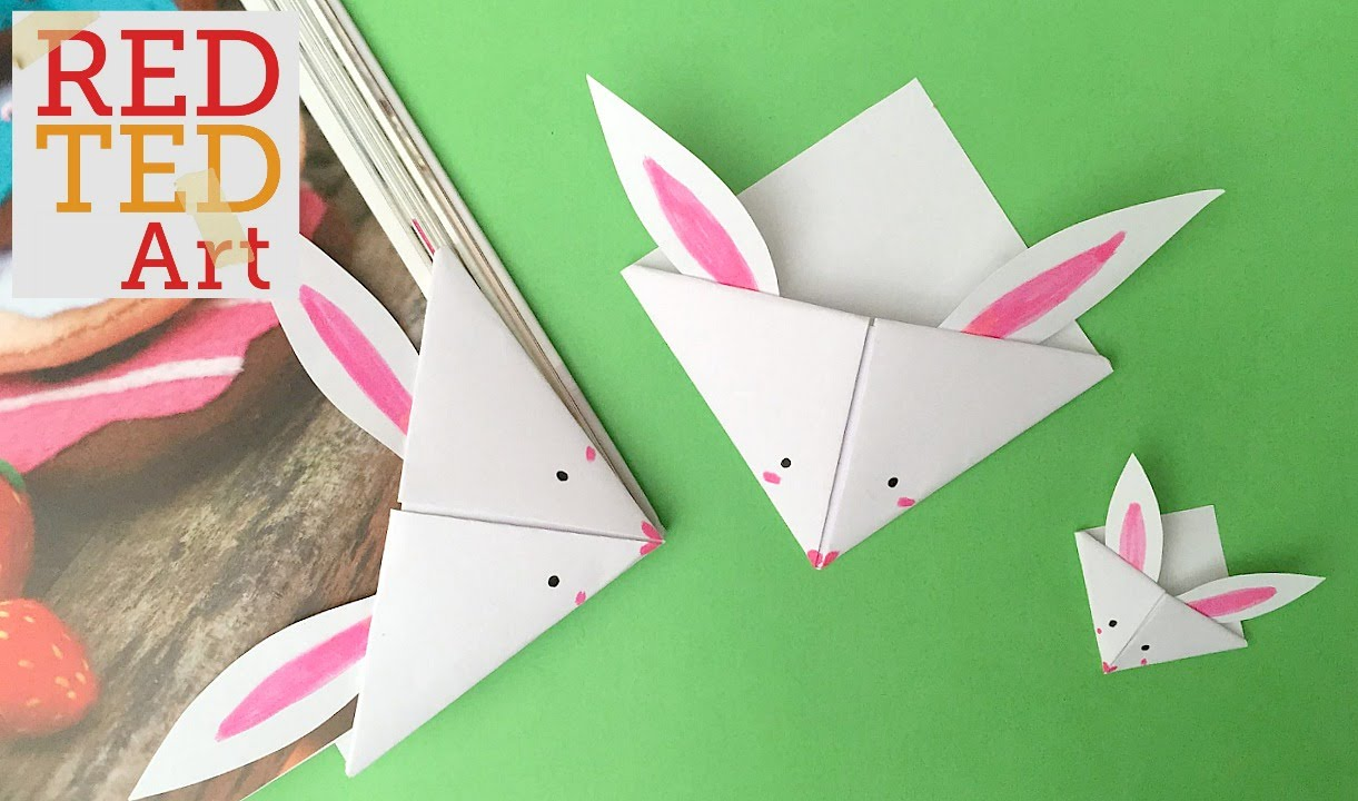 easter bunny corner bookmark easy paper bunny bookmark corner bonus 4298