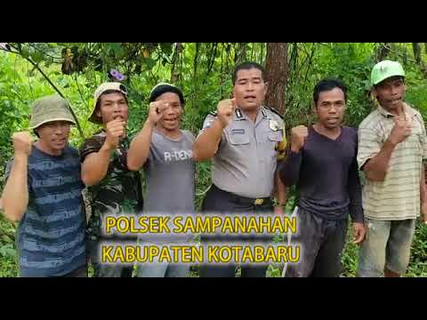 Polsek Sampanahan  Polres Kotabaru bersama Warga Mendeklarasikan ANTI HOAX