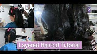 Short Layers Haircut + Salon Blowout!! || Haircut Tutorial