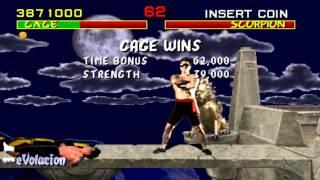 Mortal Kombat (Arcade) Johnny Cage Run-through