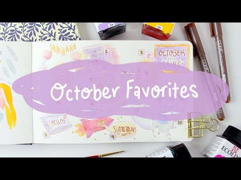 DRAW WITH ME // October 2016 Favorites