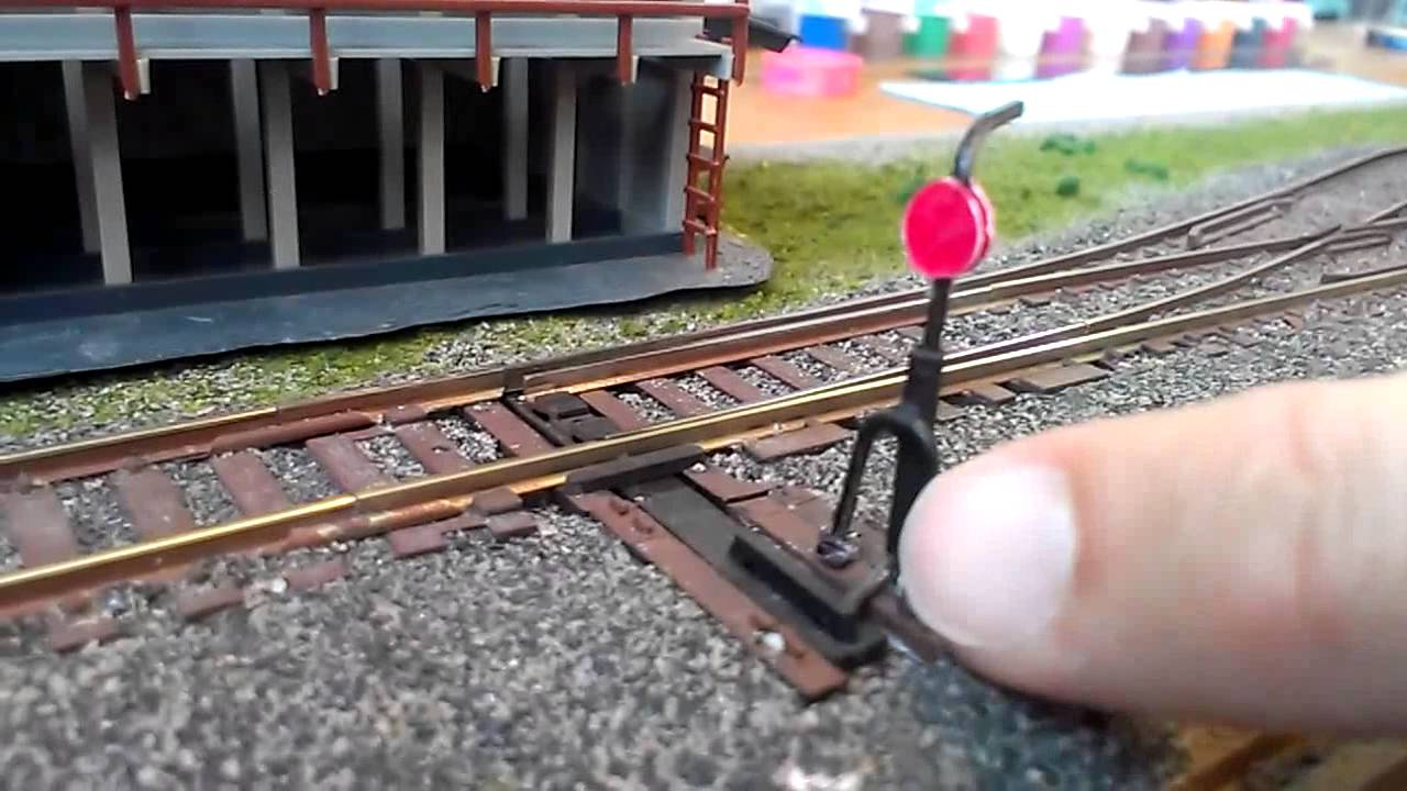 Model Railroad Tip Scratch Built Switchstand Youtube