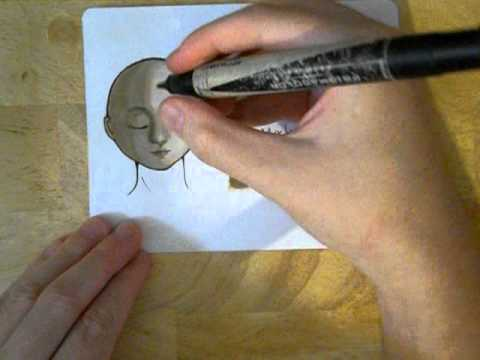 Prismacolor markers skin coloring demonstration (eight ranges) - YouTube
