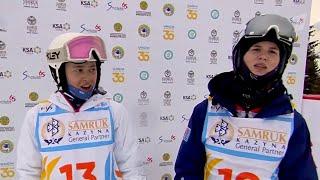 Фристайлистка Анастасия Смирнова принесла России золото чемпионата мира в парном могуле