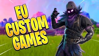 EU HOSTING CUSTOM MATCHMAKING LIVE - FREE SKIN GIVEAWAY (FORTNITE BATTLE ROYALE)