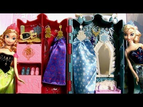 Princesa Anna e Elsa Guarda-Roupa Real das Princesas Disney Frozen - Royal Closet Princess Anna Elsa
