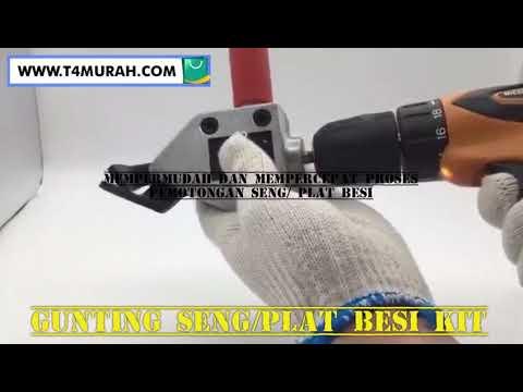 gunting untuk memotong seng t4murah plat besi youtube
