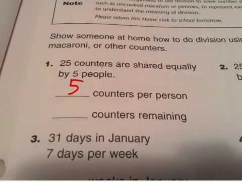 math worksheet : division with counters everyday math 3rd grade 3 homelink 4 3  : Everyday Math Worksheets 3rd Grade