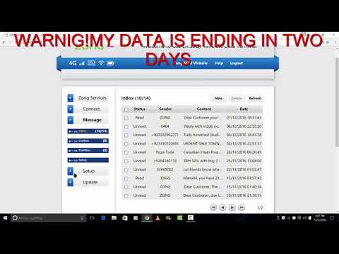 ZONG 4g Device Remaining Data Check Kerney ka tarika