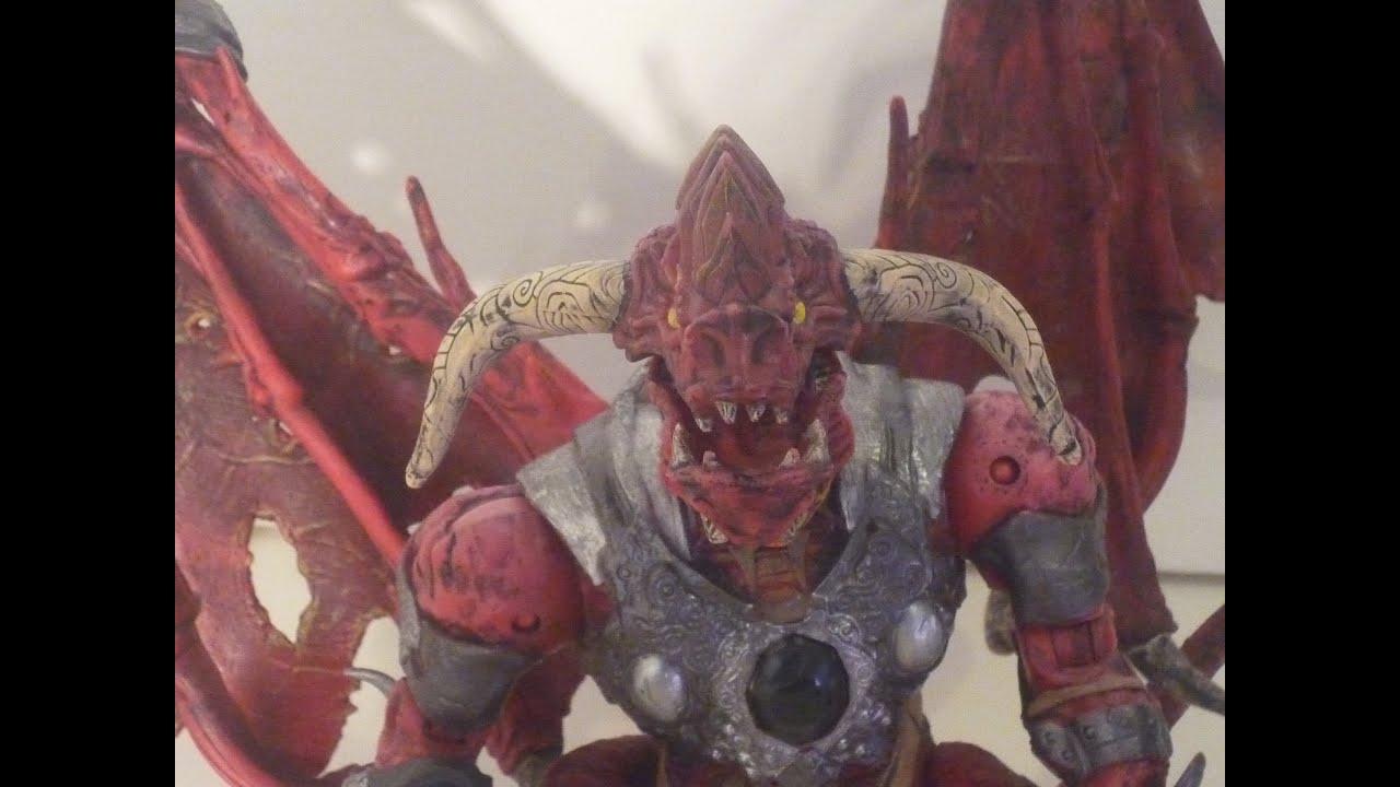 Mega Blocks red Devil Dragon figure review