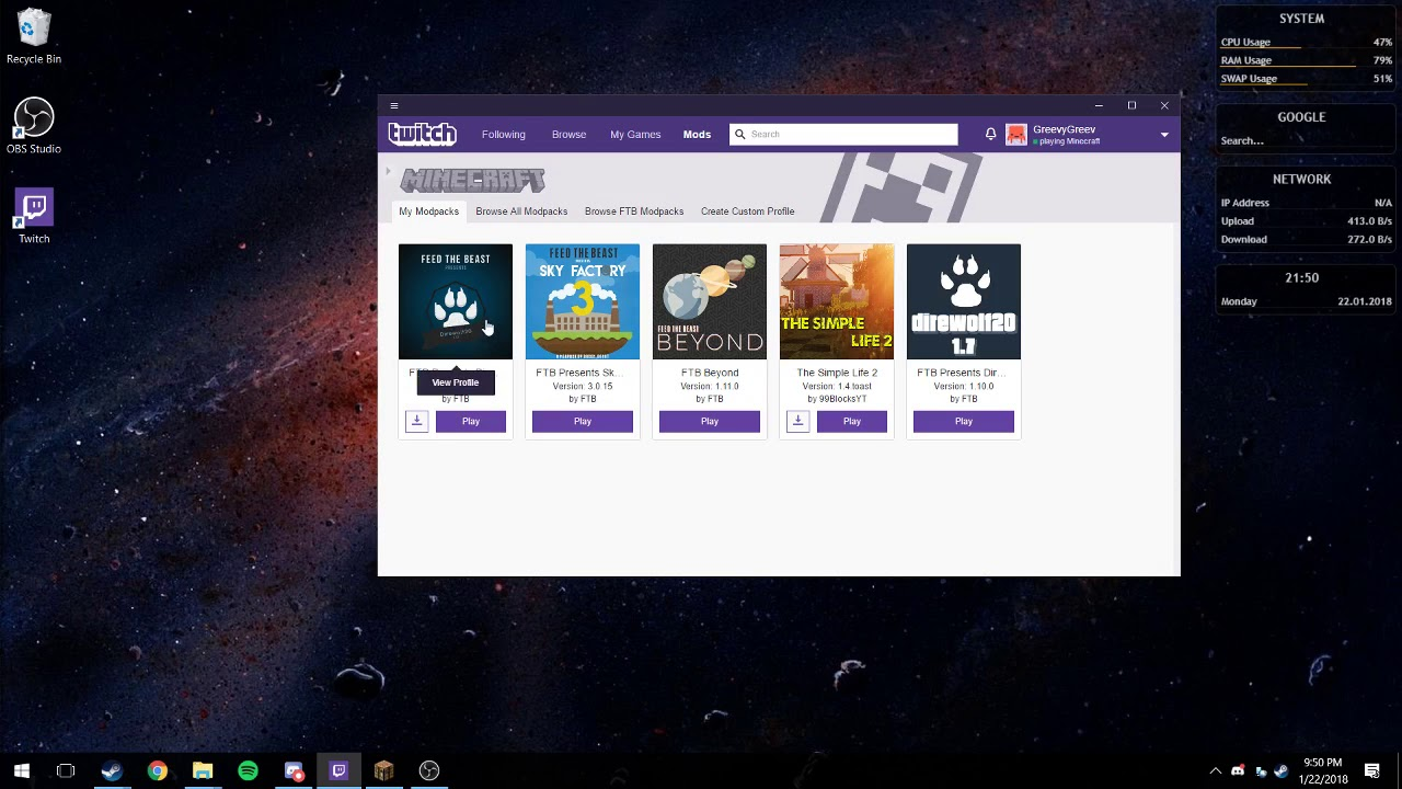 How To Allocate More Ram To Minecraft Using The Twitch Launcher Youtube