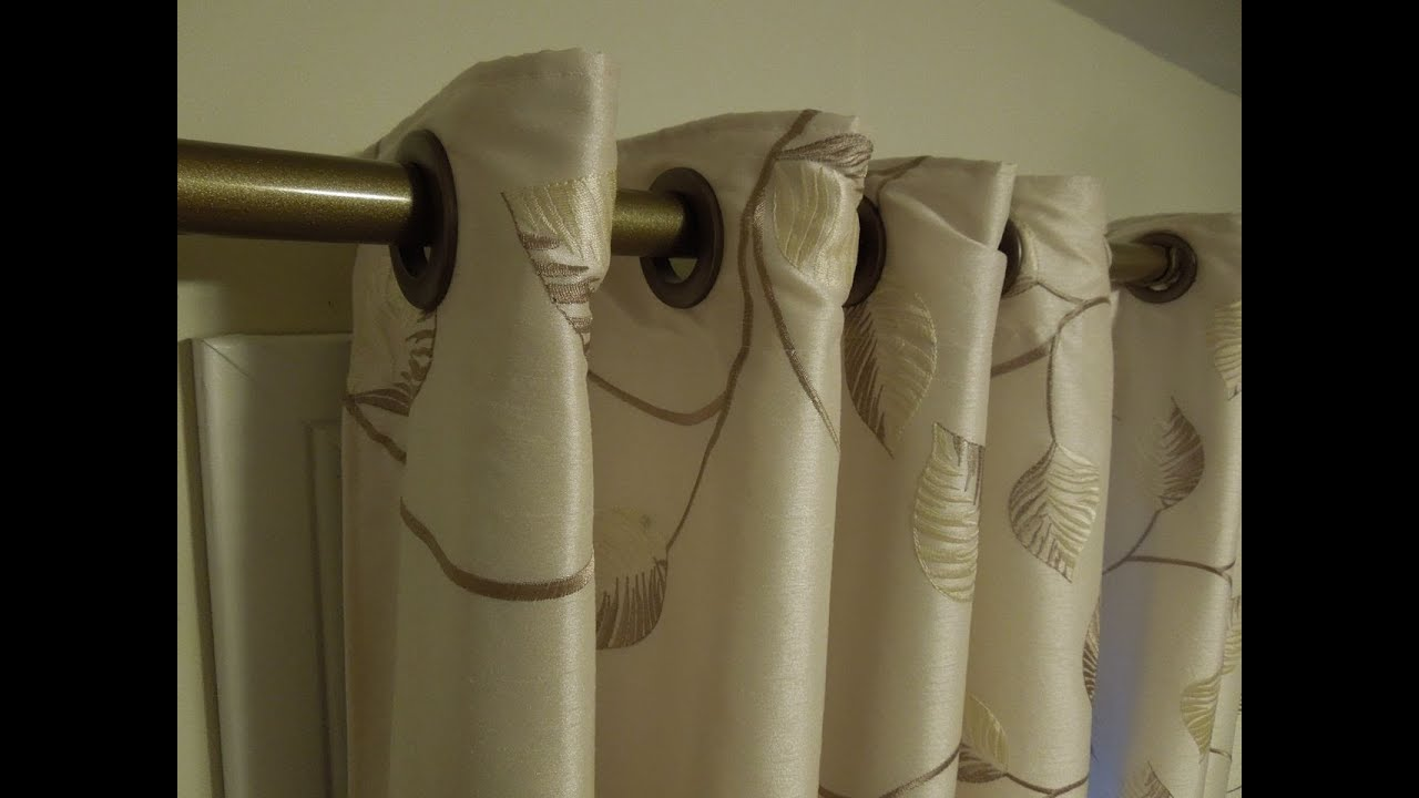 Sewing Grommets Snaps For Drapery Curtains Tutorial YouTube