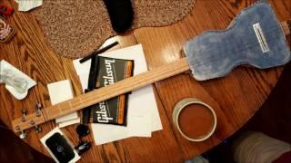 ceramic body guitar 4 string - cbg - cigar box guitar inspired