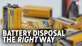 How to dispose oḟ your dead batteries the right way