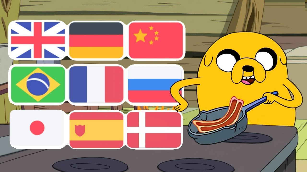 Adventure Time Bacon Pancakes Song In Various Languages Youtube