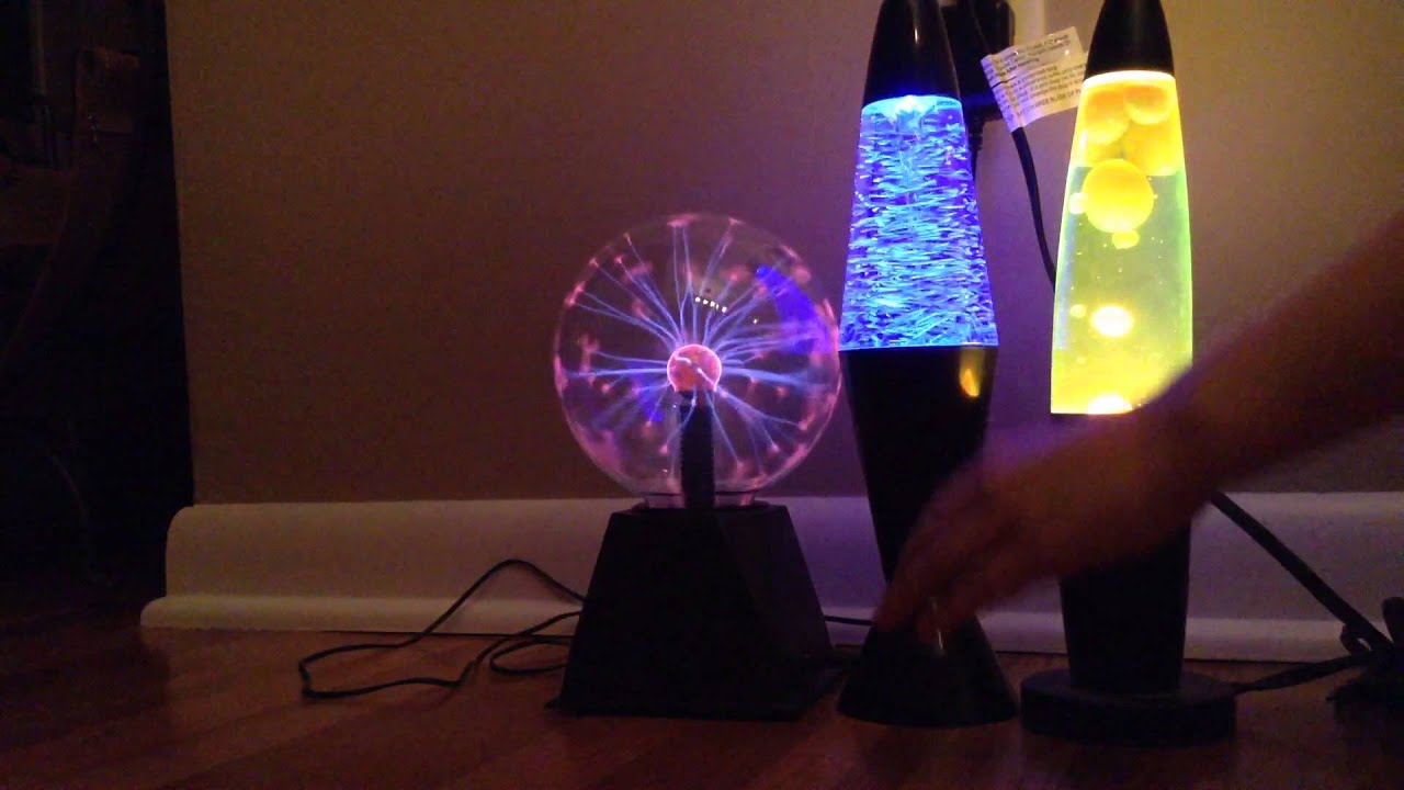Plazma ball, lava lamp, and tornado lamp. Keep watching my ...