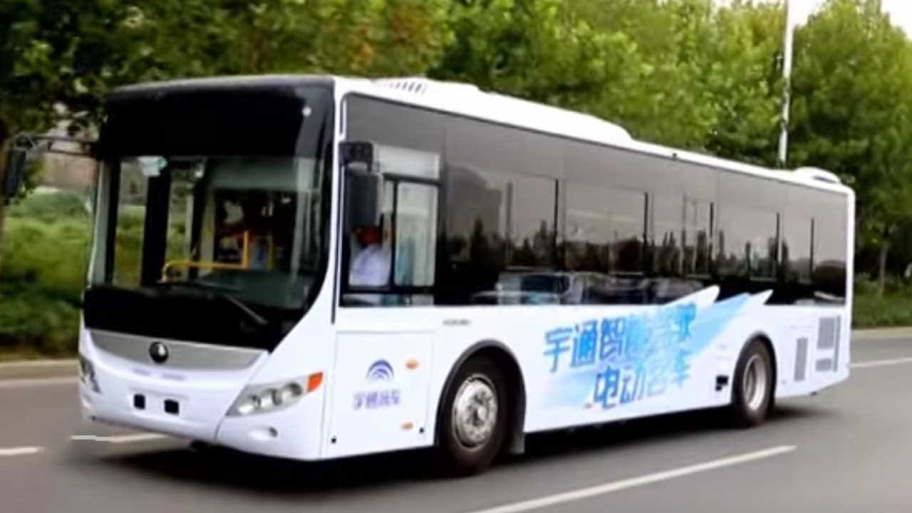 driverless bus tested successful in china youtube. Black Bedroom Furniture Sets. Home Design Ideas