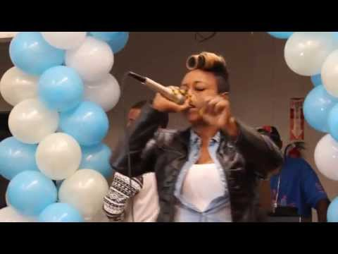 MZ KIng a contestant in the 2015 Atlanta Competition in Chicago, Illinois