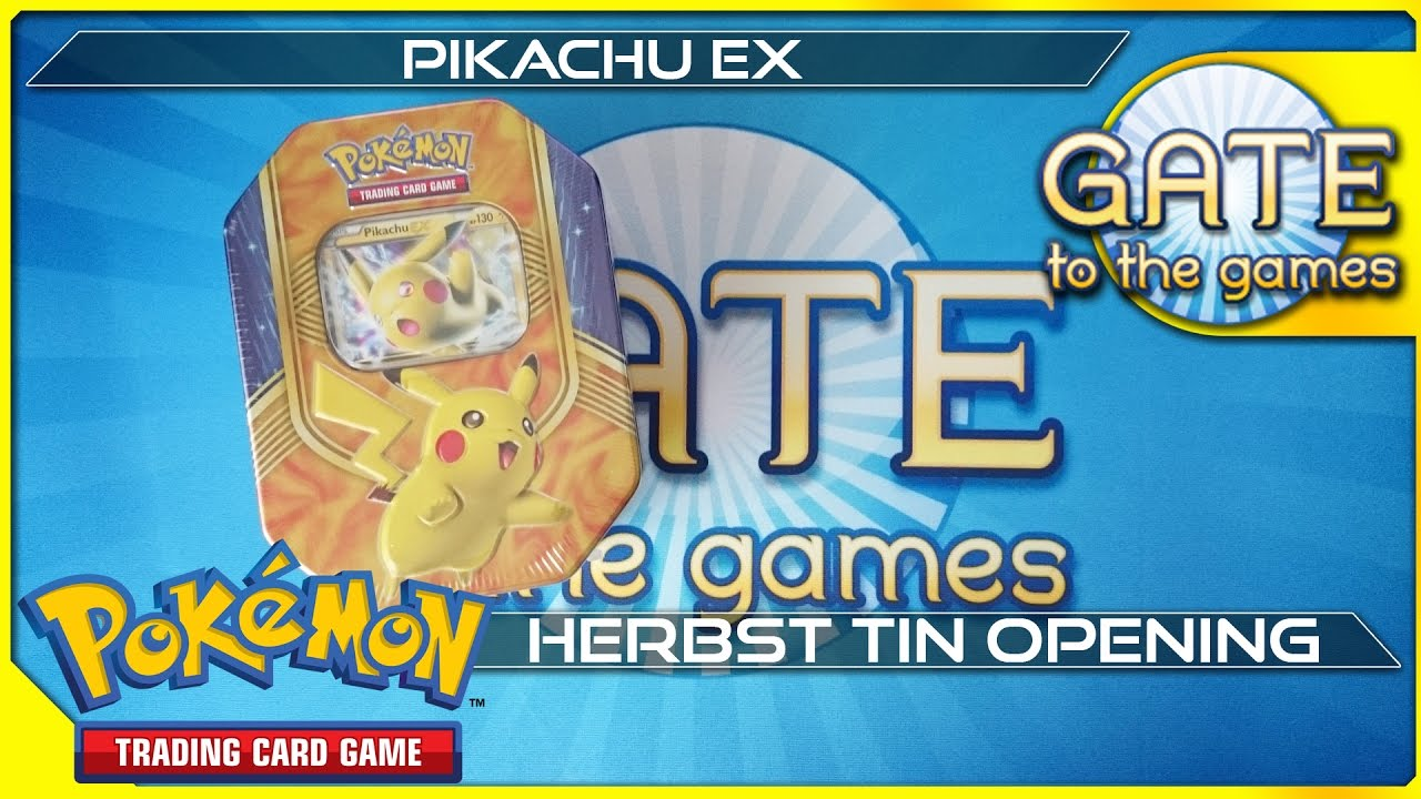 Pokemon Karten Pikachu Ex.Pikachu Ex Herbst Tin Box 2016 Opening Unboxing Pokemon Karten