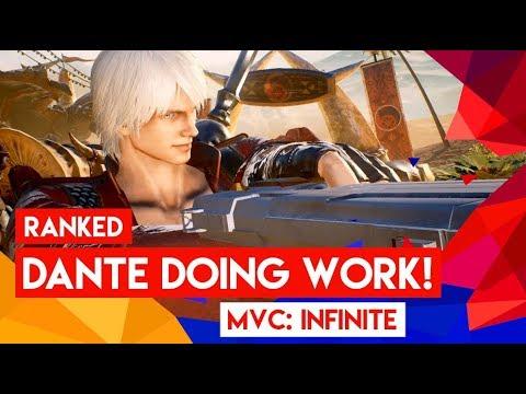 DANTE DOING WORK! Marvel vs. Capcom Infinite - Ranked Online ep.2