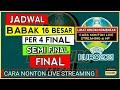Jadwal Babak 16 Besar, Perempat Final, Semi Final dan FINAL piala Eropa 2021.