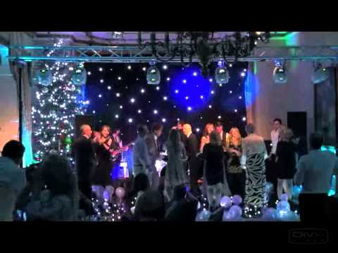 Ettington Park Hotel Wedding Band - LED Dance Floor, Mood Lights, Wedding DJ and Starcloth Backdrop.