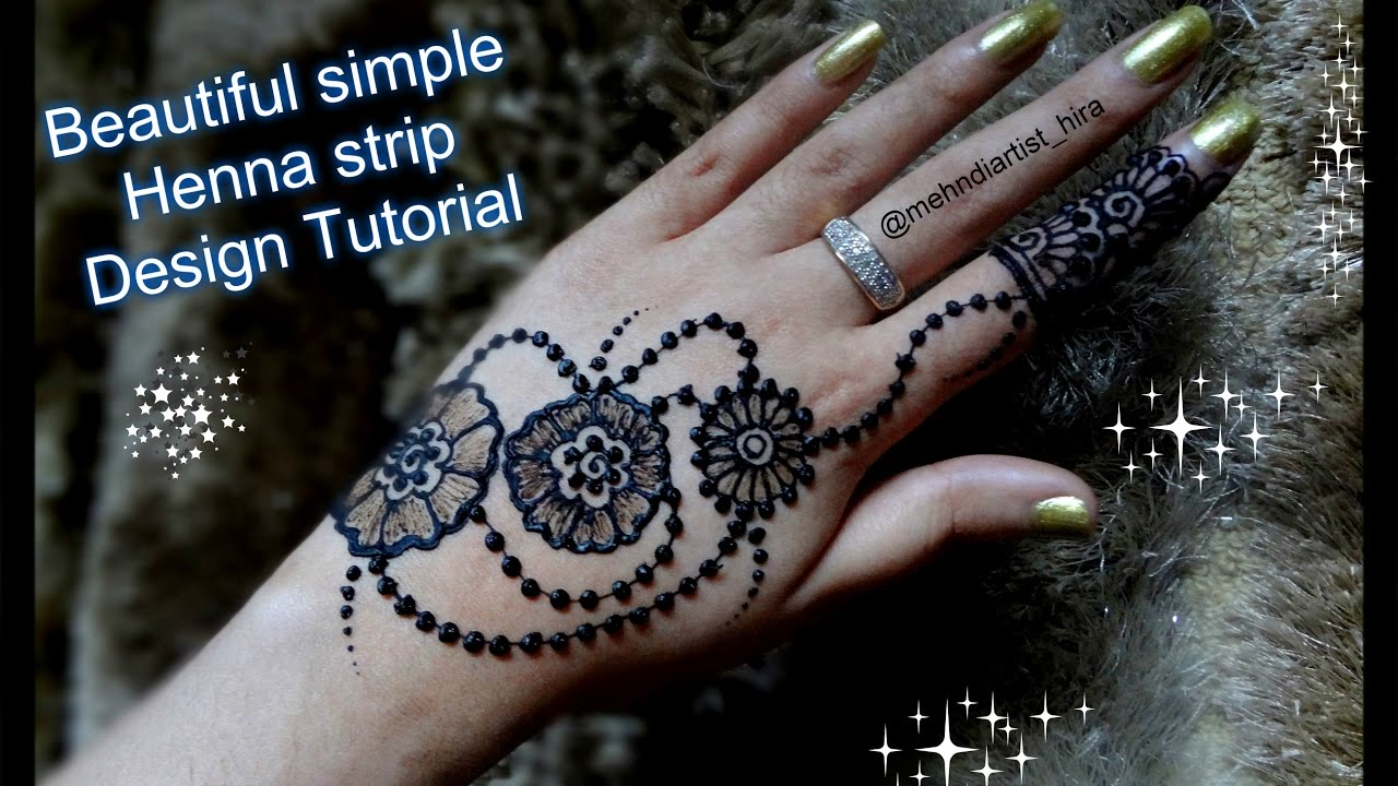 How to apply easy simple stripbail henna mehndi designs for hands how to apply easy simple stripbail henna mehndi designs for hands tutorial for eidweddings youtube thecheapjerseys Image collections