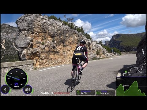 60 Minute Great Canyon du Verdon Road Cycling Workout France Part 1
