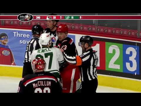 Griffins see lead vanish in seven-minute span to start third period