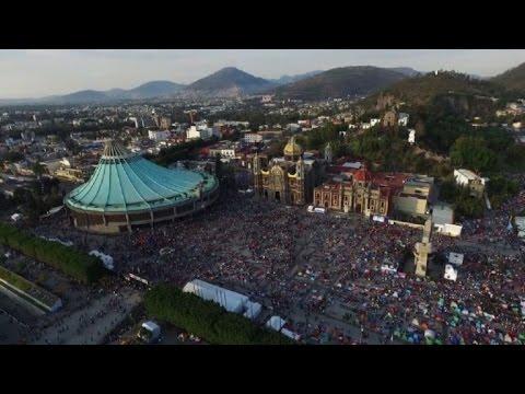 Millones de fieles visitan a la virgen de Guadalupe en México