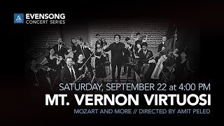 Evensong Concert Series: Mt. Vernon Virtuosi, directed by Amit Peled