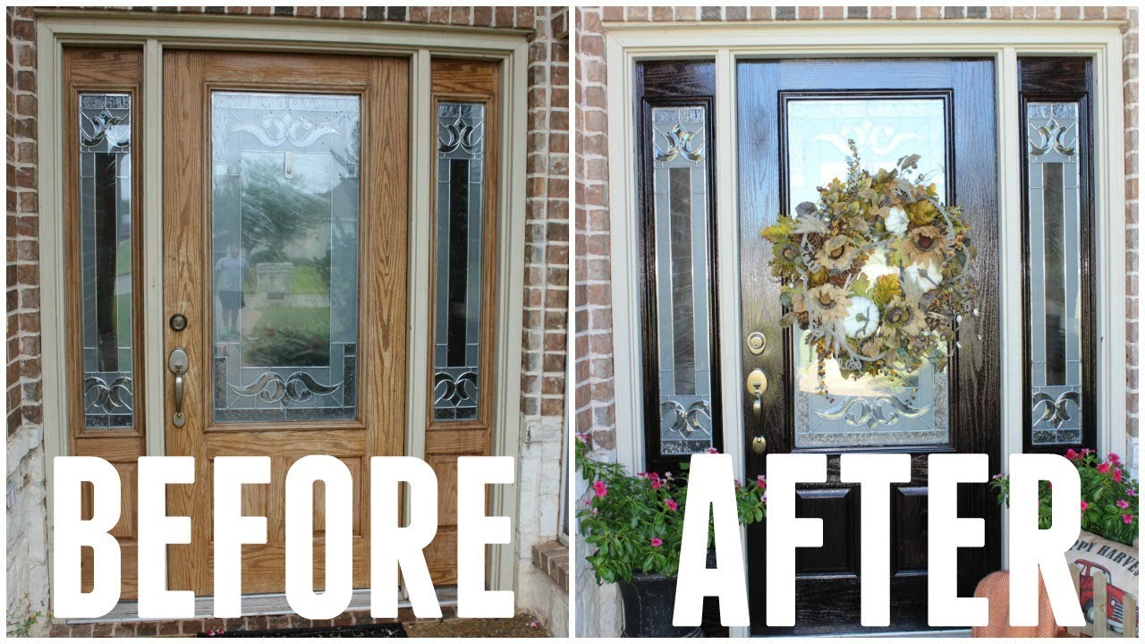 RESTORE And STAIN WOOD DOOR | DIY How To Refinish And Easy Painting Tips