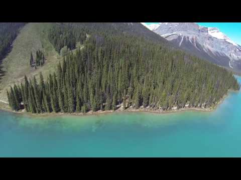 Emerald lake (Canada, Filmed by Drone)