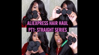 Aliexpress Hair Haul pt1: Straight Series