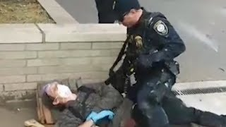 US police appear to use rubber bullets and tasers on protesters