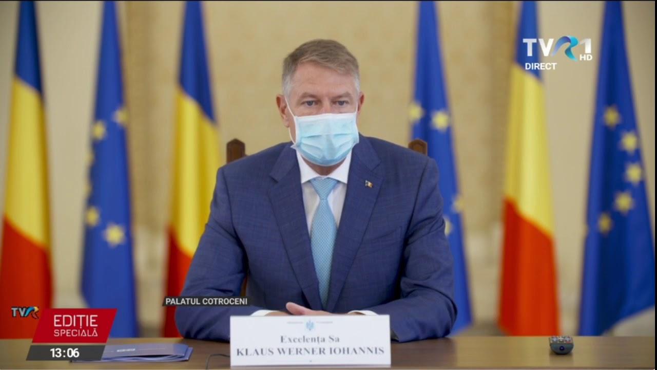 Declaraţii Klaus Iohannis despre măsurile anti-coronavirus, la întâlnirea cu prefecţii