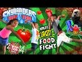 Skylander Kids in World's Largest Food Fight w/ 40k Pounds of Tomatoes! Trap Team in Real Life