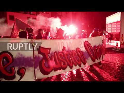 Belgium: Protesters descend on Brussels to mark Intl. Day Against Police Brutality