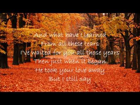 George Michael  - Jesus to a Child (Lyrics)