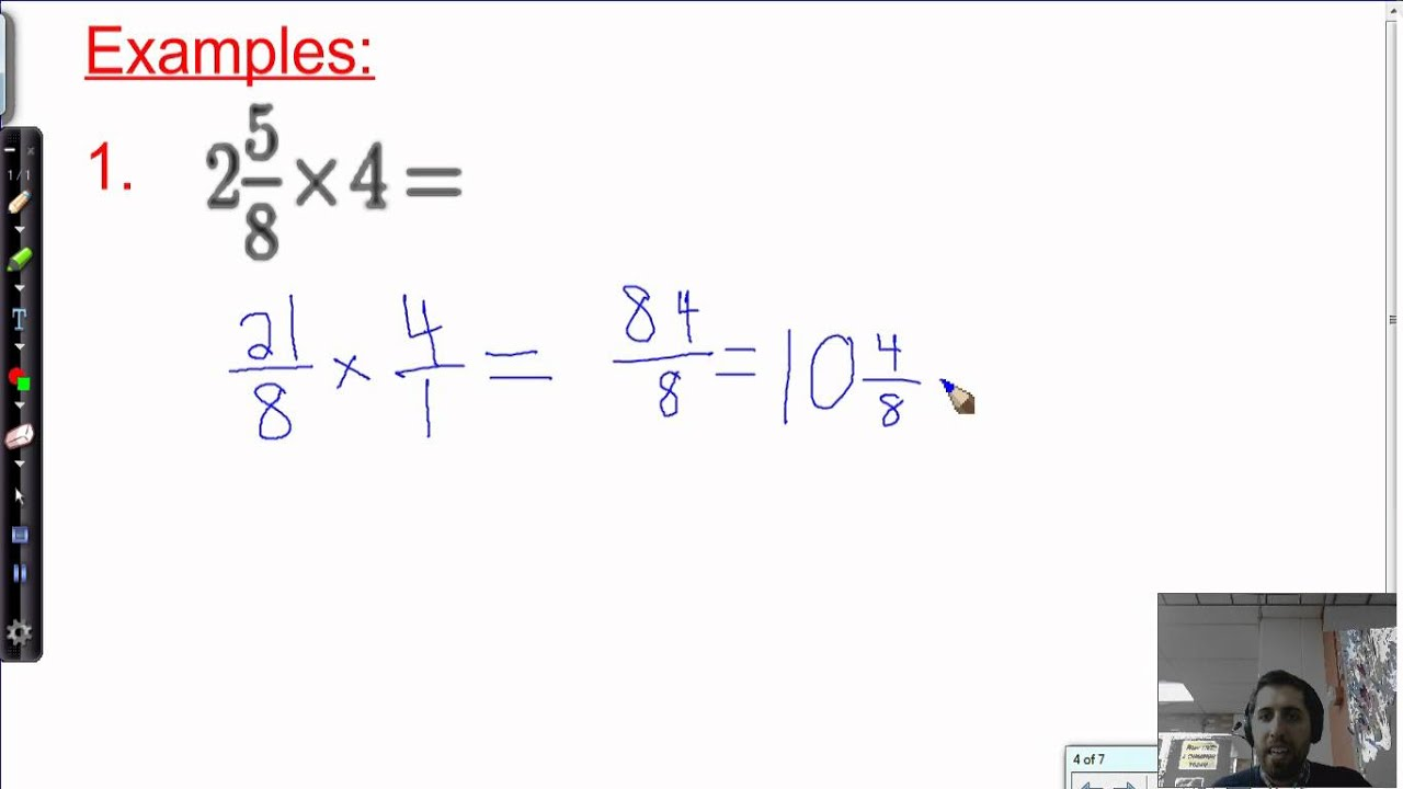 17. Multiplying Fractions and Mixed Numbers (6th Grade)
