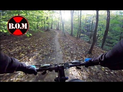 Folding Bike on Trail in Ohio Woods - Montague Paratrooper Review