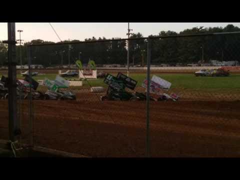 ASCoC Sprint Car Heat 1 Part 1/3  Brownstown Speedway