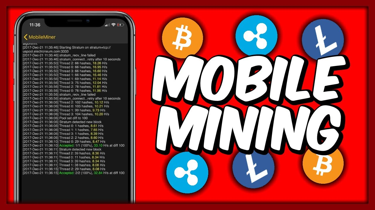 how to mine cryptocurrency with iphone