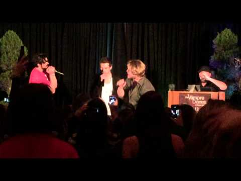 "Chase Coleman, Chris Wood & Micah Parker singing ""Livin' On A Prayer"" at TVD Orla"