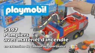 Playmobil 5397 pompiers et matériel d'incendie (extension 5337) - Démo en français HD FR